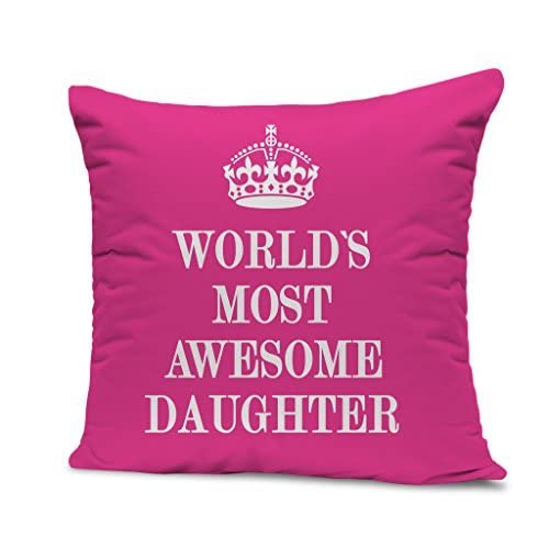 TIED RIBBONS World Most Awesome Daugher Printed Cushion 12 Inch X