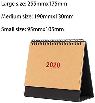 Y-RD 2020 Desktop-Kalender, Kalender einfacher Stil kreative Desktop Dekoration Kalender Monatskalender Büro-Kalender wall (Color : White, Size : M)