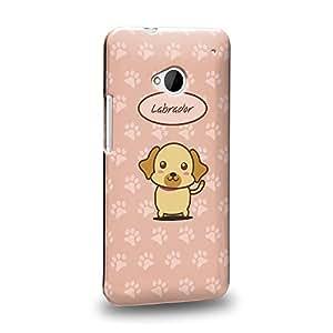 Case88 Premium Designs Art Collections Hand Drawing Cartoon puppy labrador Carcasa/Funda dura para el HTC One M7