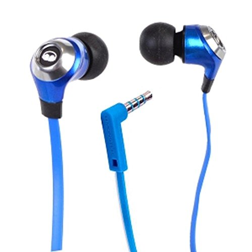 Monster N-Lite High-Performance Tangle-free In-Ear Headphones w/Inline Microphone (Candy Blueberry) consumer electronics Electronics (Cable Blueberry Microphone)