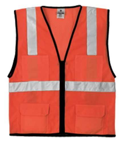 ML Kishigo 1192 Economy Series Ultra Cool Mesh 6 Pocket Vest, Fits Large and Extra Large, Orange ()