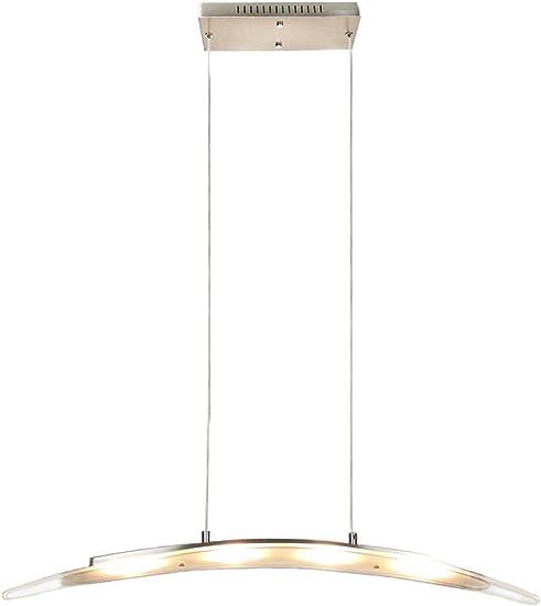 YIFONTIN LED Pendant Light Fixture Hanging Lamp Chandelier Lights 18W 3000K Warm Light Lamps for Living Dining Room Kitchen Island Bedroom, Satin Nickle