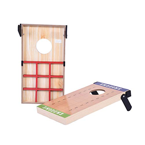 AutumnFall Portable 2-in-1 Cornhole Bean Bag Toss Game and Tic Tac Toe Game Set Gift Have Fun with Friends and Family in Tournaments Holiday Weekends Picnics Campsites (A)]()