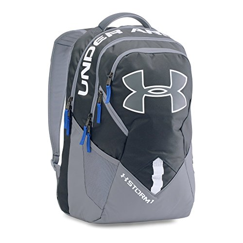 Under Armour Storm Big Logo IV Backpack, Stealth Gray/Steel, One Size (Under Armour Y Backpack)