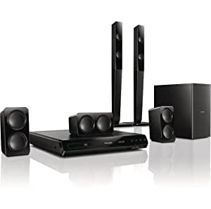 Philips HTD3540/12 - Equipo de Home Cinema 5.1 de 300 W (HDMI, USB), negro