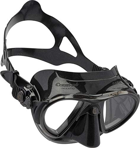 Cressi NANO Expert Adult Compact Mask for Freediving & Scuba Diving, All Black