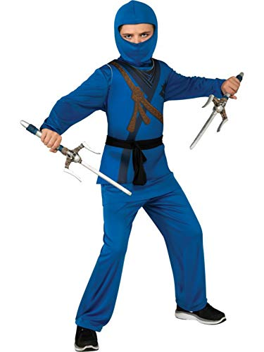 Rubie's Ninja Costume, Blue, Medium -