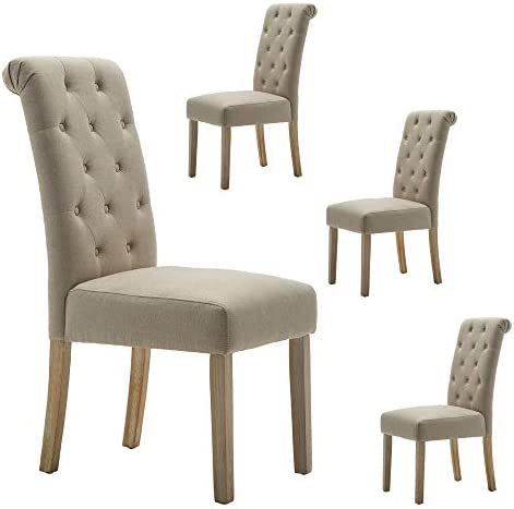 LSSBOUGHT Button-Tufted Classic Accent Dining Chair