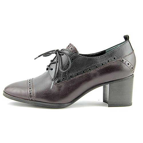 Franco Sarto Womens Alberta Lace Up Melanzana / Nero Nuova Eleganza In Pelle