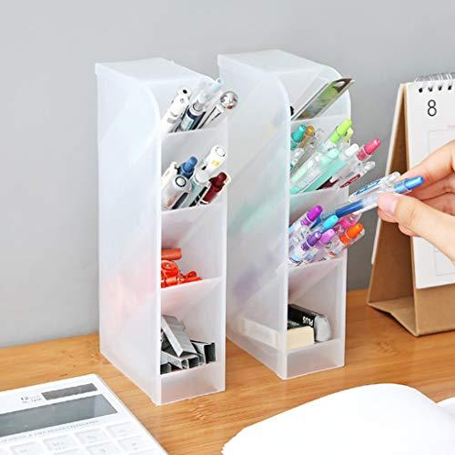 (Gotian Multifunction Desktop Debris Storage Organizer Box for Pen, Makeup Brush, Tie Bra Socks Drawer Cosmetic Divider (White))