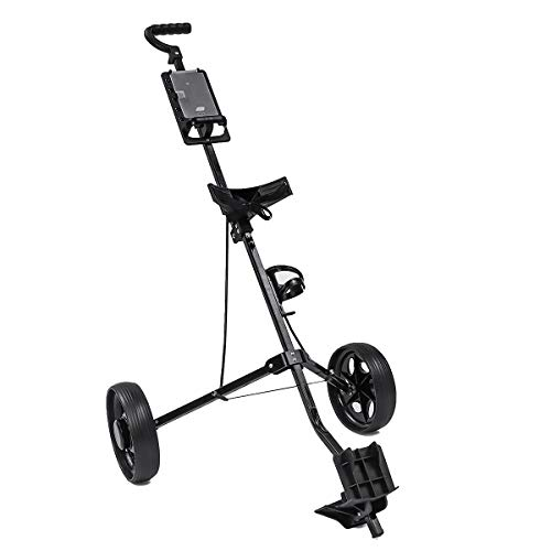 - AXDZ unctio Adjustable 2 Wheel Push Pull Golf Cart Aluminium Alloy Foldable Trolley Cart Foldable Folding Hand Truck