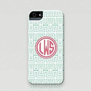 Froolu ? Personalized iPhone 5 and 5s Case - Mint Greek Key pattern design available in tough case and snap on case