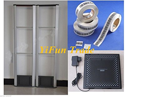 YiFun Trade Anti Theft RF Detector Store Tagging Security System Checkpoint RF8.2MHz + Soft Label+ Deactivator by YF&EB