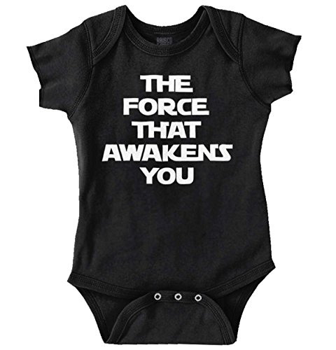 Brisco Brands Force Awaken You Cute Shirt Star War Funny Baby Clothes Nerdy Romper (Millenium Wide Body)