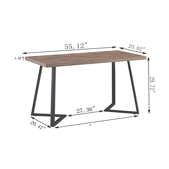 UnaFurni Rustic Computer Desk, Vintage Industrial Simple Writing Desk, Metal and Wood Study Table for Home Office… -  - writing-desks, living-room-furniture, living-room - 41FU5ma5NnL. SS570  -