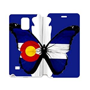 Footclthcase Stylish Colorado Flag Night Cityscape Cover Case Cover for SamSung Galaxy Note4