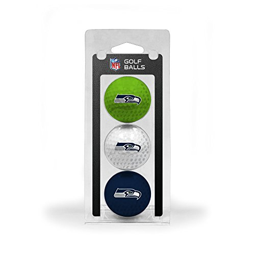 Team Golf NFL Seattle Seahawks Regulation Size Golf Balls, 3 Pack, Full Color Durable Team Imprint]()