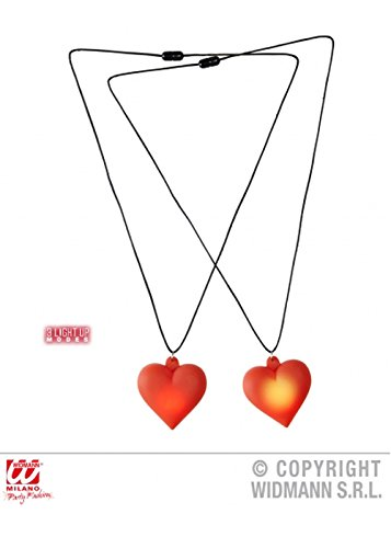 Struts Fancy Dress The Tin Man Light Up Heart Necklace (Wizard Oz Of Man Heart Tin)