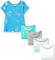 Amazon Essentials Girls' 5-Pack Fashion T-Shirts