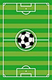 Kids Play Stripe Soccer Rectangle 6'7''x9'2'' Area Rug - 680
