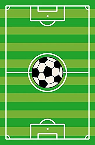 Kids Play Stripe Soccer Rectangle 6'7''x9'2'' Area Rug - 680 by MAYAHOMEWARE