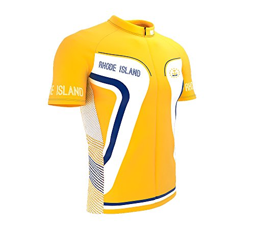 Rhode Island Bike Short Sleeve Cycling Jersey for Men - Size ()