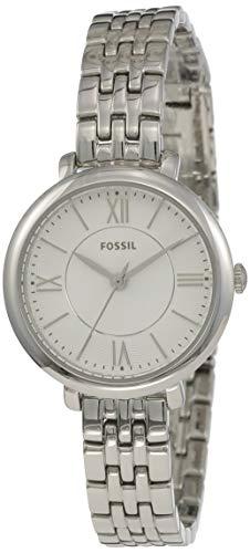 Fossil Women's Jacqueline Mini Quartz Stainless Steel Dress Watch, Color: Silver-Tone (Model: ES3797) (Women Mini Stainless Steel Bracelet)