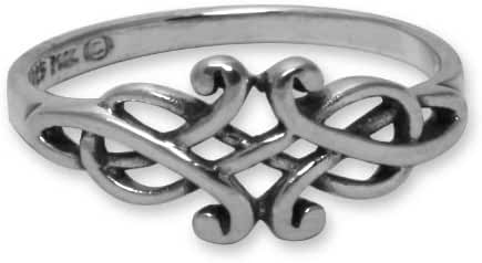 Celtic Filigree Sterling Silver Ring