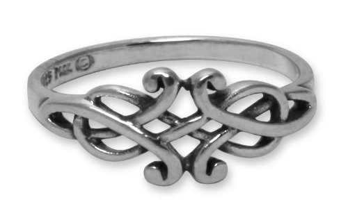 Celtic Filigree Sterling Silver Ring - size 10