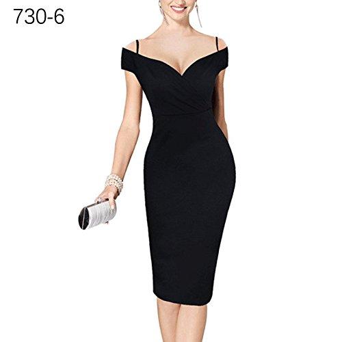 ZHUDJ _ Impresión De Vestir Traje Hombro Falda Lápiz No. 6 pure black