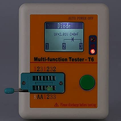 LCR-T6 Multi-functional Tester T6 Transistor Tester LCD Diode Triode MOSFET NPN PNP Triac MOS Detector - - Amazon.com