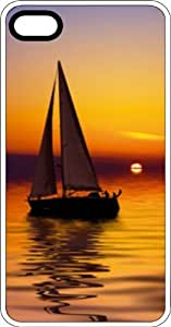 Sailboat Sailing on Evening Waters White Plastic Case for Apple iPhone 4 or iPhone 4s