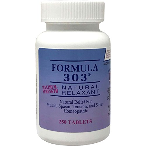Dee Cee Labs Formula 303 Maximum Strength Natural Relaxant Tablets, 250 ()