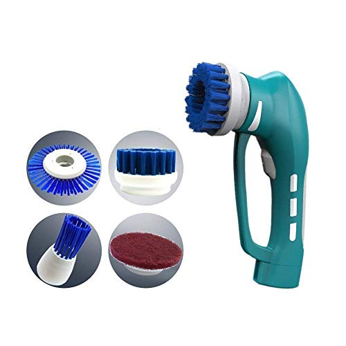 Handheld Cleaner Brush,ETTG Power Scrubber Cleaning Kit Portable Cordless Power Scrubber Brush for Kitchen,Bathroom,etc(Battery Model)