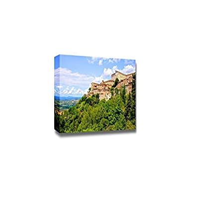 Beautiful Scenery Landscape View Over The Old Hill Town of Todi Umbria Italy - Canvas Art Wall Art - 16