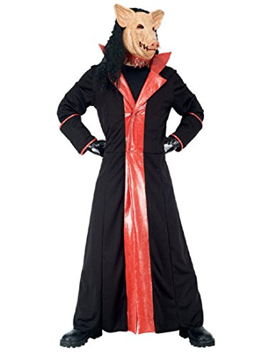 Paper Magic Men's Jigsaw Adult Deluxe Pig Costume And Mask,Black,Large (Jig Saw Costume)