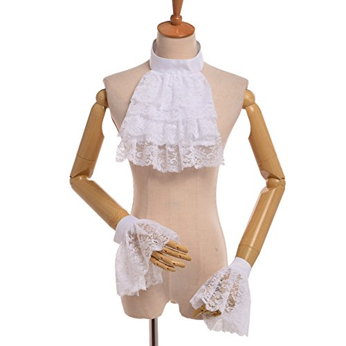 BLESSUME Lace White Jabot Cuffs product image
