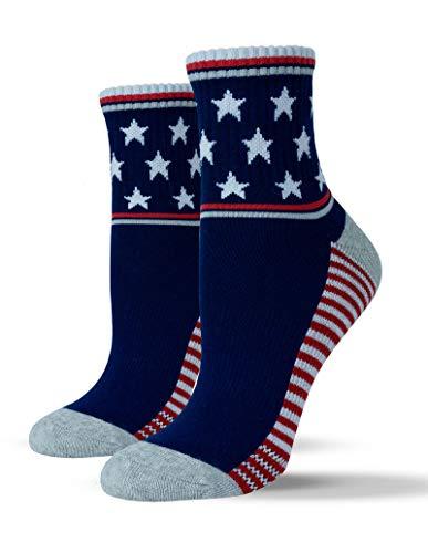 (Unisox Americana Socks - Stars & Stripes US Flag Patterned Socks - Stars Aligned )