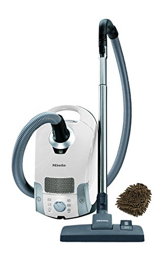 Compact C1 Miele Pure Suction Lotus White Bags Canister Vacuum Cleaner (Complete Set) w/ Bonus: Premium Microfiber Cleaner Bundle