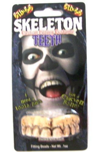Brand New Fake Joke Novelty Scary Halloween Skeleton Bone (Scary Teeth For Halloween)