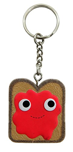 Kidrobot Yummy World 3D Vinyl Keychain (Red Jam Toast)