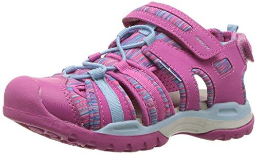 Geox Borealis Girl 8 Sandal, Fuchsia/Sky, 30 M EU Little Kid (12 US)