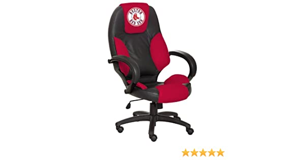 Cool Amazon Com Mlb Boston Red Sox Leather Office Chair Sports Machost Co Dining Chair Design Ideas Machostcouk
