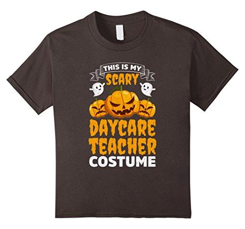 Kids Scary Daycare Teacher Costume Funny Halloween Shirt 8 Asphalt (Daycare Teacher Halloween Costumes)