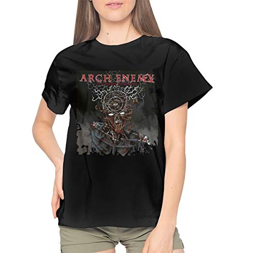 (Arch Enemy Womens Casual Short Sleeve T Shirts Blouses Tops Black)