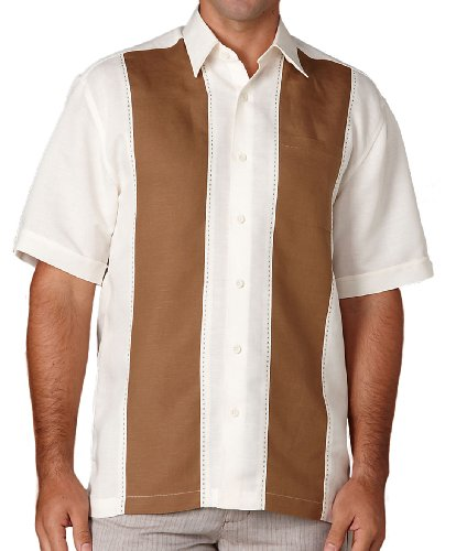 Camp Shirt Panel (Cubavera Big and Tall Panel Camp Shirt)