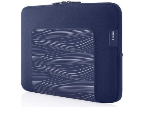 Belkin F8N278tt132 Grip Sleeve for Apple iPad2 and iPad - Indigo Blue Belkin Textured Silicone Sleeve