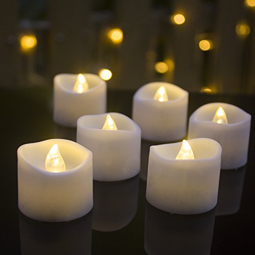 Tea Lights,Flameless LED Tea Lights Candles,Battery Operated,Pack of 24,Warm White Working Hour 100,Ideal for Wedding,Party,Holidays, Festivals and Home Decoration