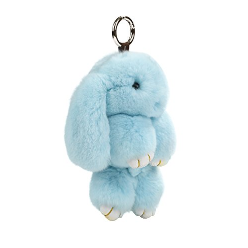 USATDD Plush Bunny Keychain Rabbit Real Fur Figure - Armadillo Keychain