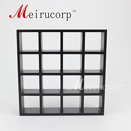 (Fine 1/12 scale miniature furniture black hand carved shelving unit for dollhouse)